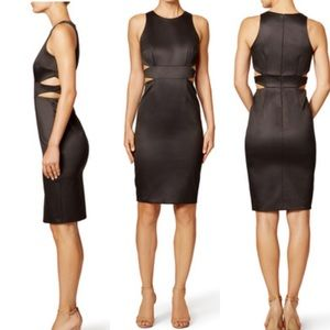 Cynthia Rowley Black Wax Dress
